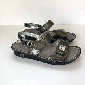 Alegria Verona Patent Leather Wedge Sandals 39